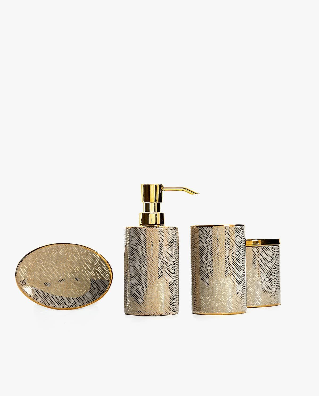 Gold Dots Bathroom Set