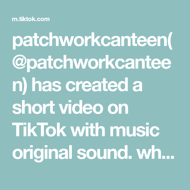 Patchworkcanteen Patchworkcanteen Has Created A Short Video On Tiktok With Music Original Sound What If You Kannada Music Girls Love Travel Bride Of Chucky