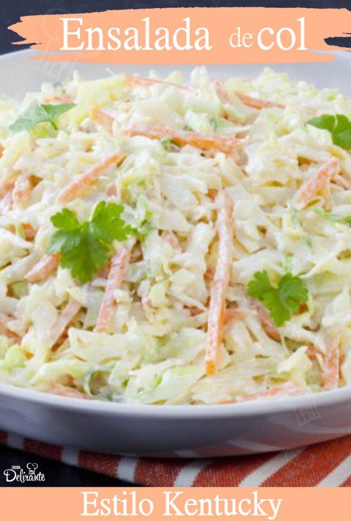 Prepara la famosa ensalada de col estilo Kentucky