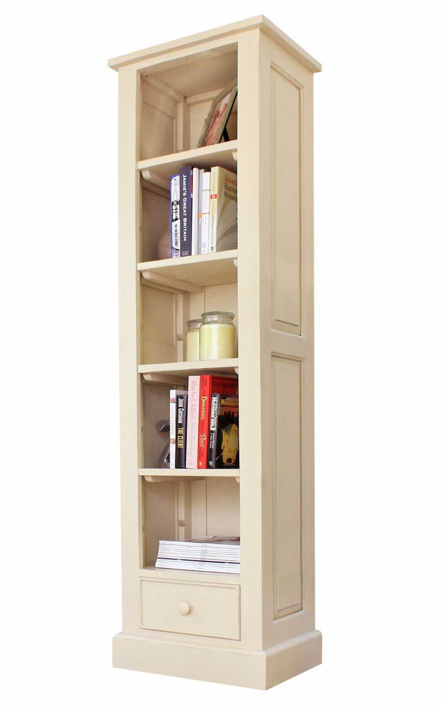 Marios Cream Mahogany Narrow Alcove Open Is Specifically Designed To Make An Excellent Addition Your It Comes With 5 Adjule Shelves And One Drawer