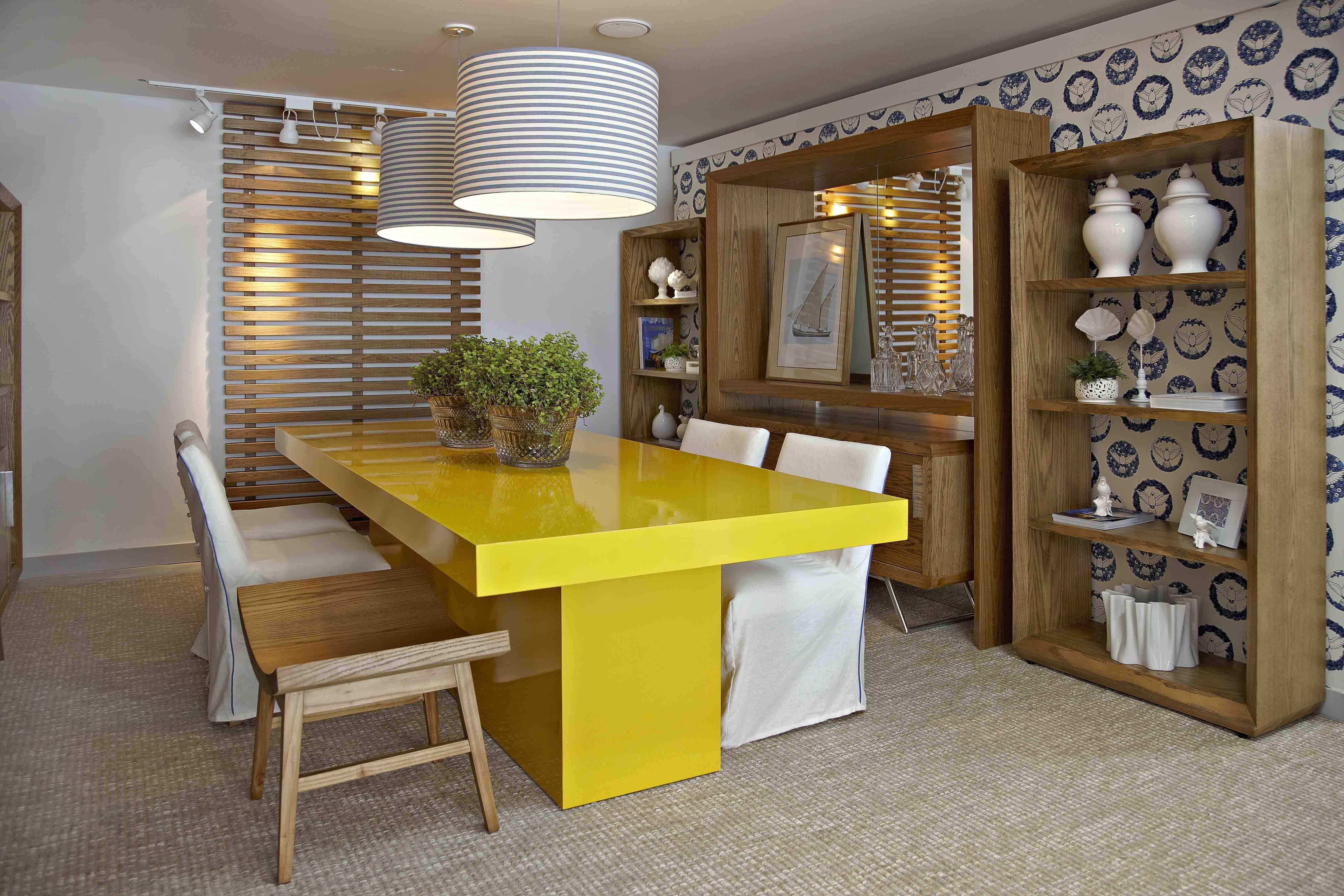 Decora O Sala Azul Turquesa E Amarelo Pesquisa Google De Cor  -> Decoracao Sala De Jantar Azul