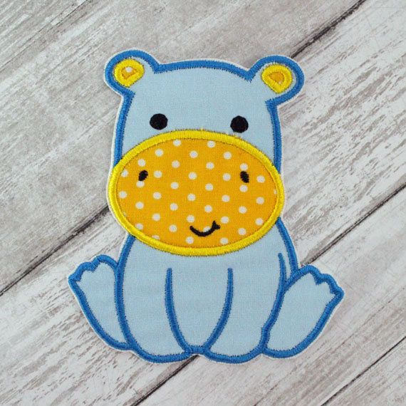 Hippopotamus Iron On Patch, Hippo Patch, Hippo Applique, Iron On Patch, Applique Patch, Embroidered Hippo Patch, Baby Hippo Patch, Hippo #babyhippo