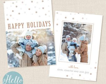 Christmas Card Template Quot Woodland Quot Customizable Photoshop Templates For Photograph Christmas Card Template Holiday Card Template Photo Card Template