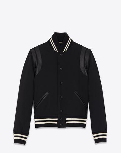 8cae78258e SAINT LAURENT Classic Teddy Jacket In Black Wool Gabardine And ...