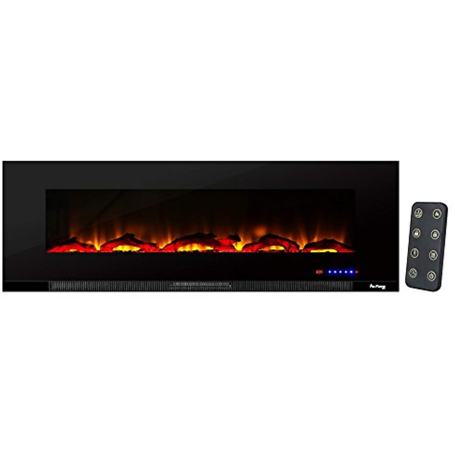 E Flame Usa Livingston Wall Mount Electric Fireplace 60 Inch Wide