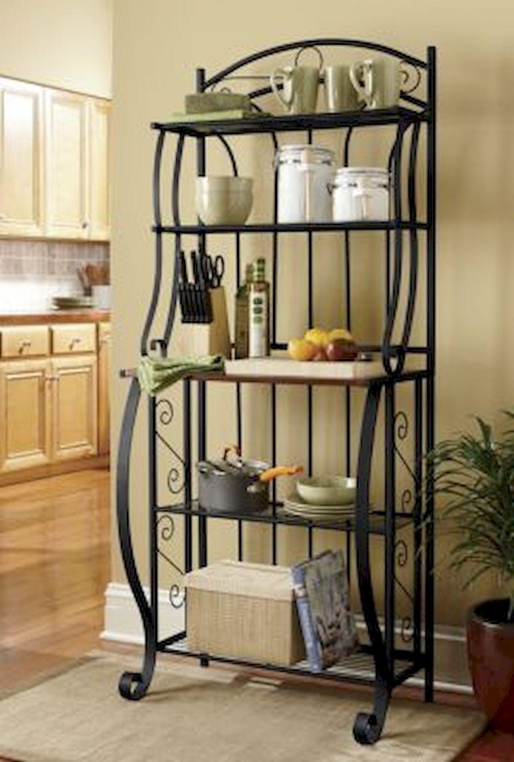 Cool 19 Smart Solution Standing Rack Kitchen Decor Ideas https