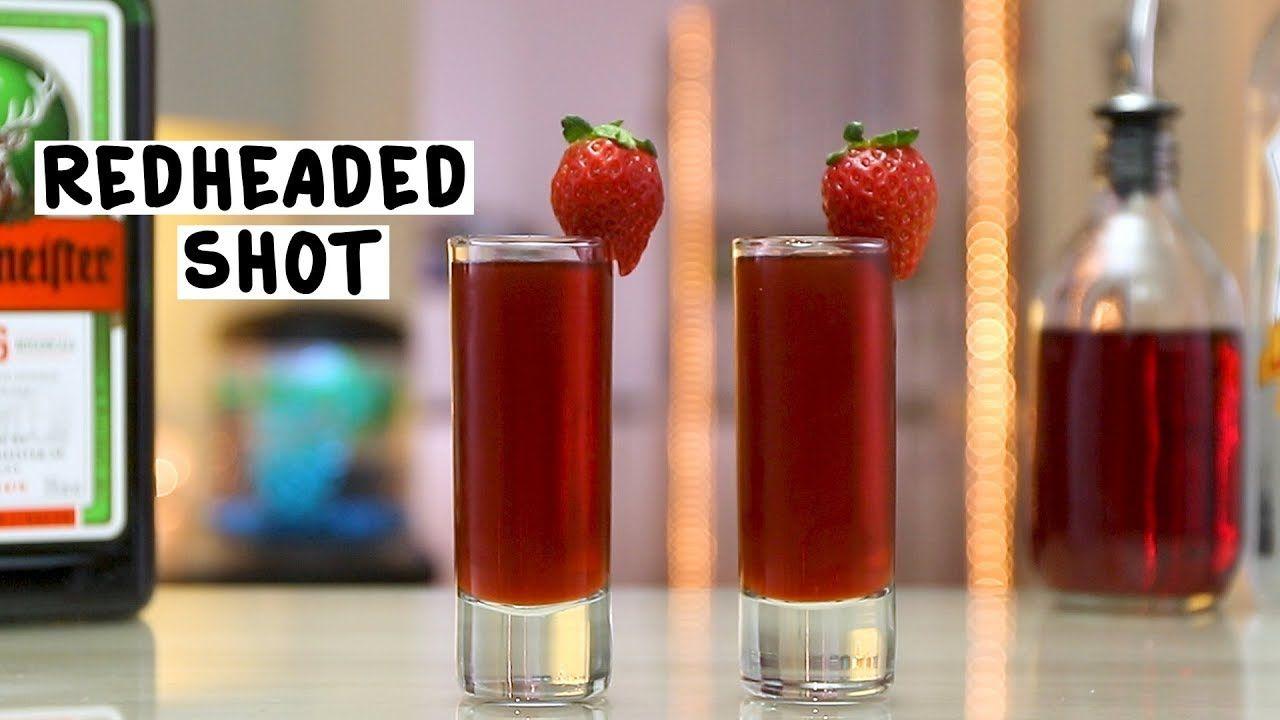 Redheaded Slut Shot 3 Ml Jagermeister 1 Ml Peach Schnapps Ml Cranberry Juice Garnish Strawberry Preparation 1