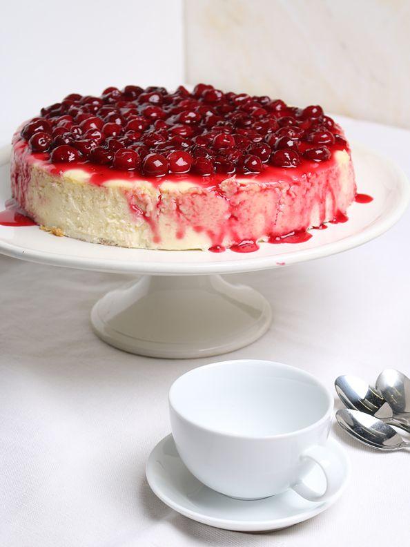 new york cheesecake mit kirschguss backen pinterest kuchen dessert und rezepte. Black Bedroom Furniture Sets. Home Design Ideas
