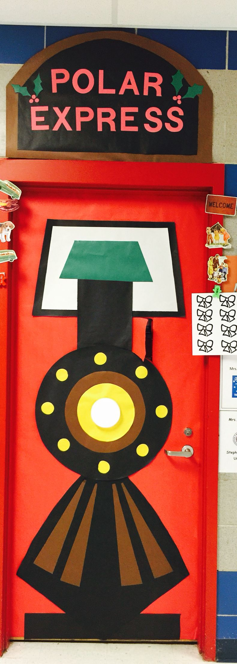 Classroom Train Decor ~ Polar express christmas door class room ideas