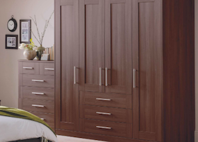 schreiber shaker walnut | bedroom-compare | independent