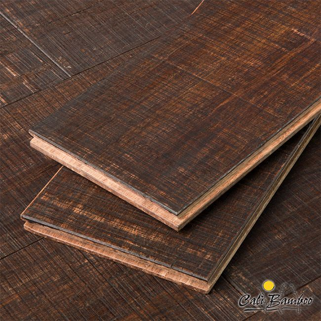 Rustic Barnwood Wide Plank Fossilized Strand™ Bamboo