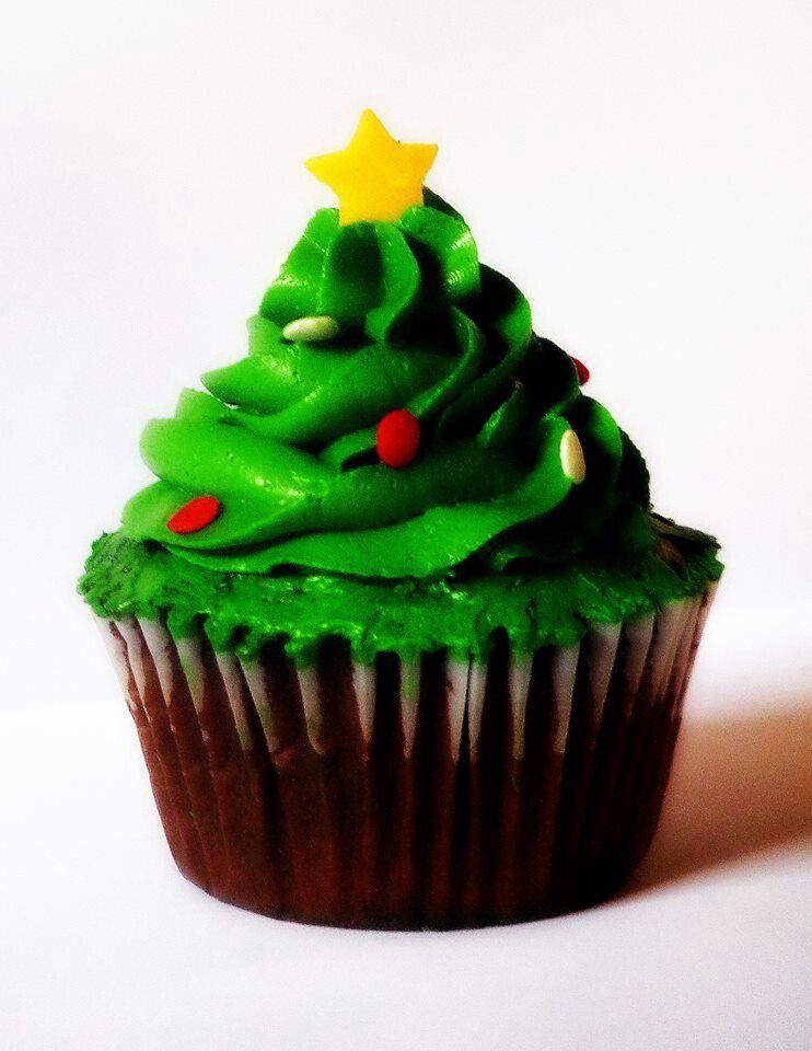 Cupcake árbol de navidad Chiristmas tree cupcake