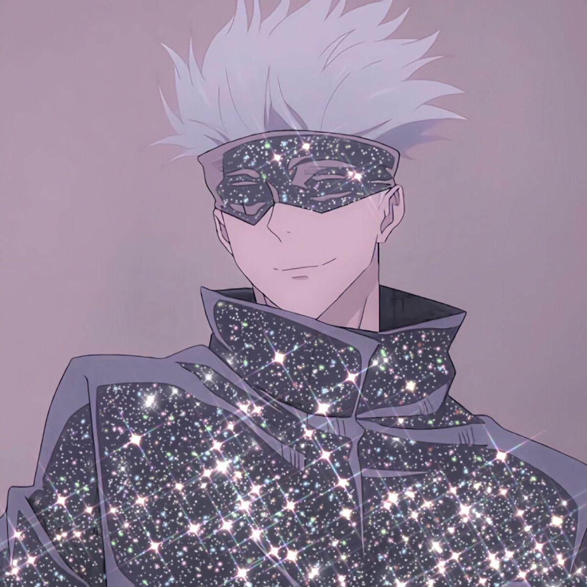 Jujutsu Kaisen Gojo Satoru Glitter Icon Aesthetic Anime Anime Jujutsu