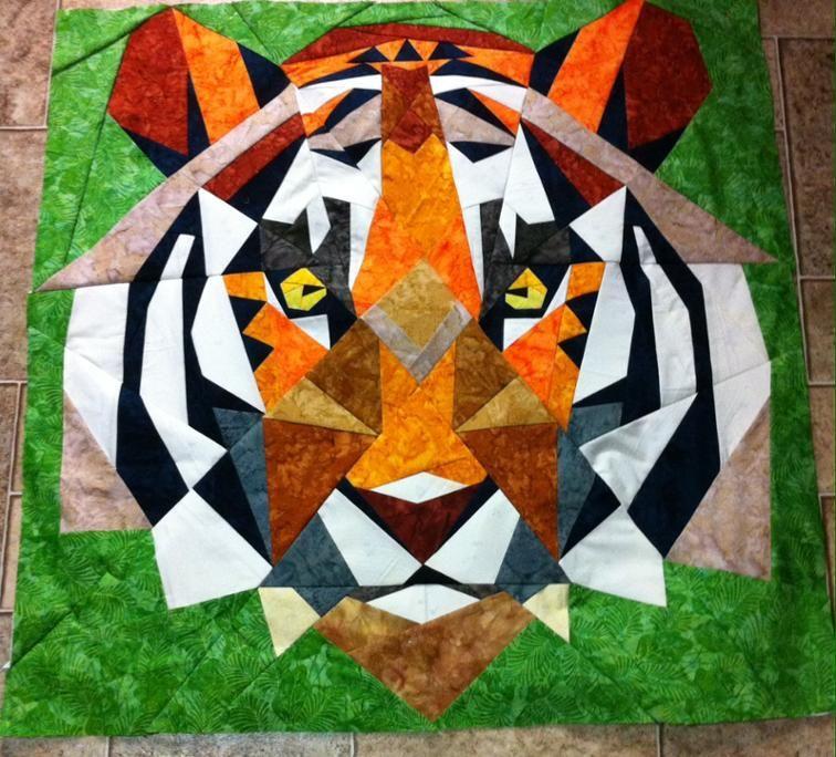 Tiger Quilt Craftsy Bargello Quilt Patterns Animal