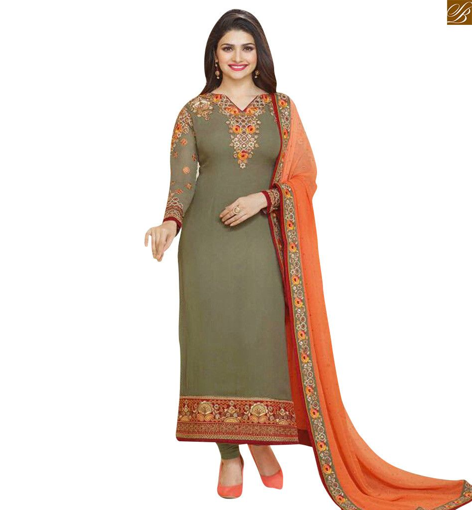 KARACHI STYLE PRACHI DESAI DESIGNER DRESS WITH EMBROIDERY VNPD