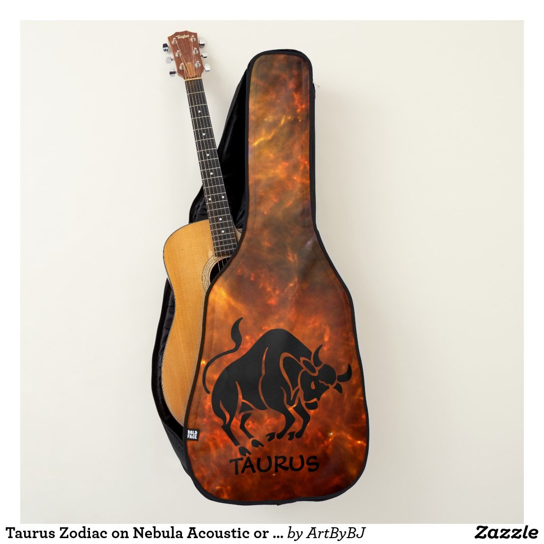 Taurus Zodiac On Nebula Acoustic Or Electric Guitar Case Great New Range Of Cases For Electric Guitars Al Guitar Case Guitar Electric Guitar Case