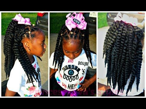 Little Girls Natural Hair Easy Crochet Hairstyle Protective