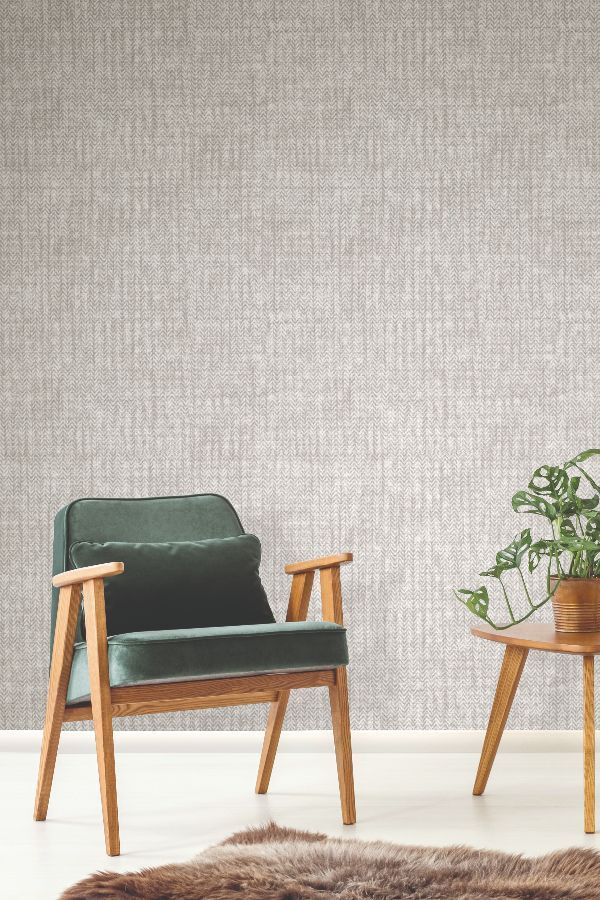 A Textured Elizabeth Ockford Wallpaper Design Featuring A Pattern Of Fine Line Living Room Wallpaper Neutral Wallpaper Living Room Modern Wallpaper Living Room