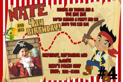 Awesome jake and the neverland pirates birthday invitations download awesome jake and the neverland pirates birthday invitations download this invitation for free at filmwisefo