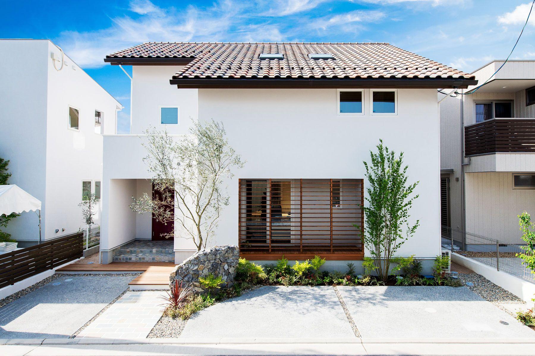 洋風瓦を使ったシンプルな家 注文住宅 家 広島 工務店 オールハウス