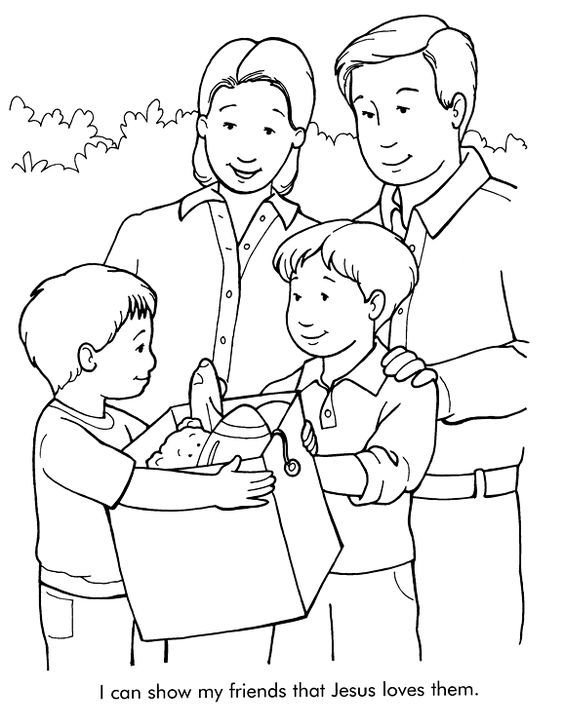 Serving Others Coloring Page Using This With Prov 17 17 Sunday