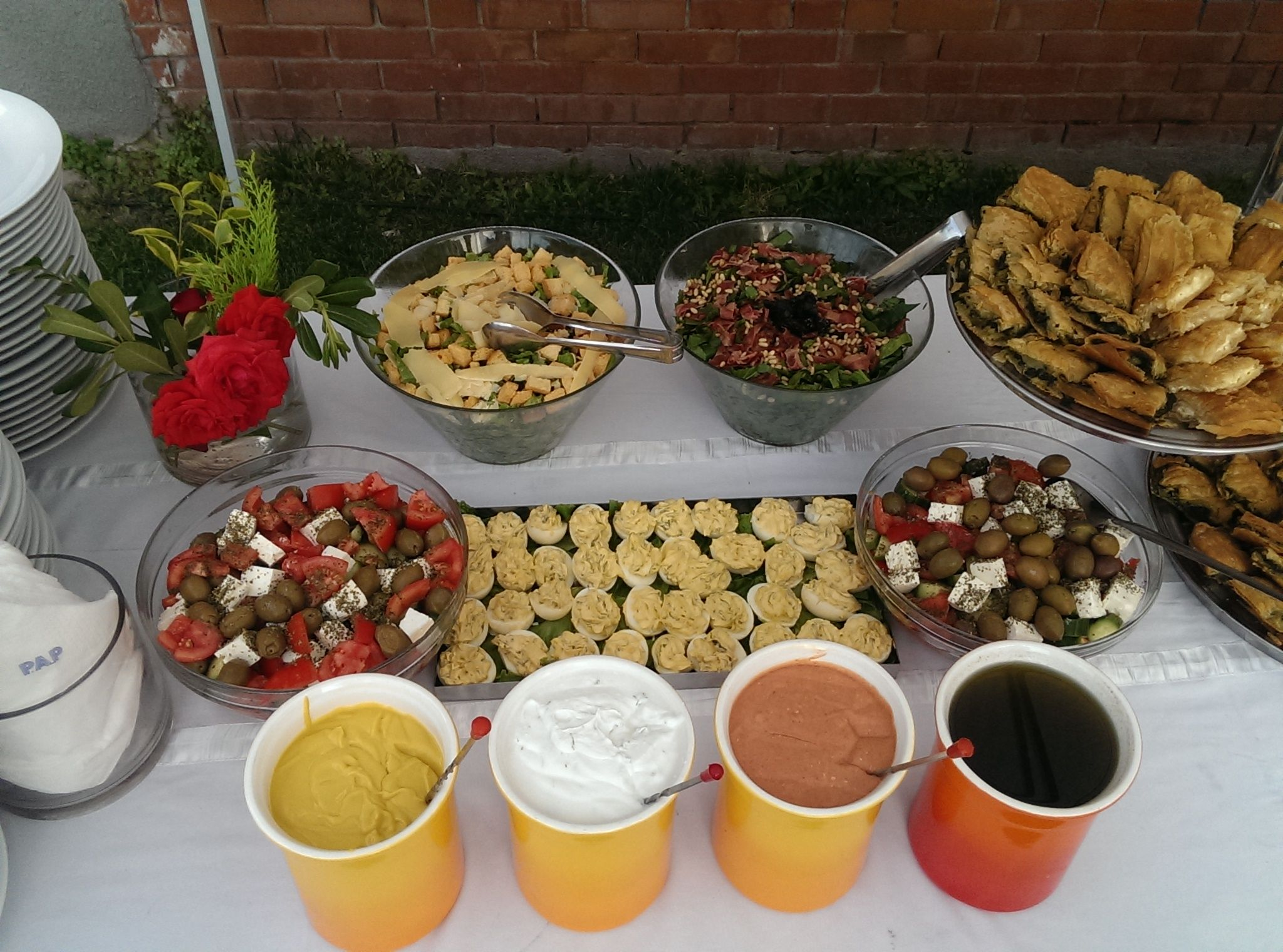 Summer afternoon Baptism reception buffet @ the American Farm School ...