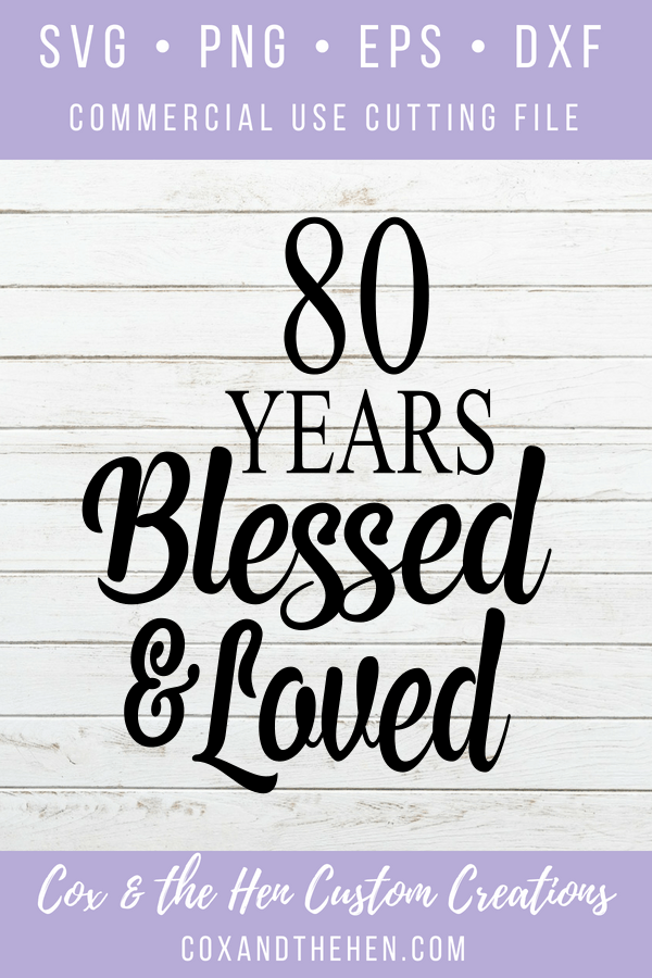 Download 80 Years Blessed and Loved Svg | Birthday wishes, Love is ...