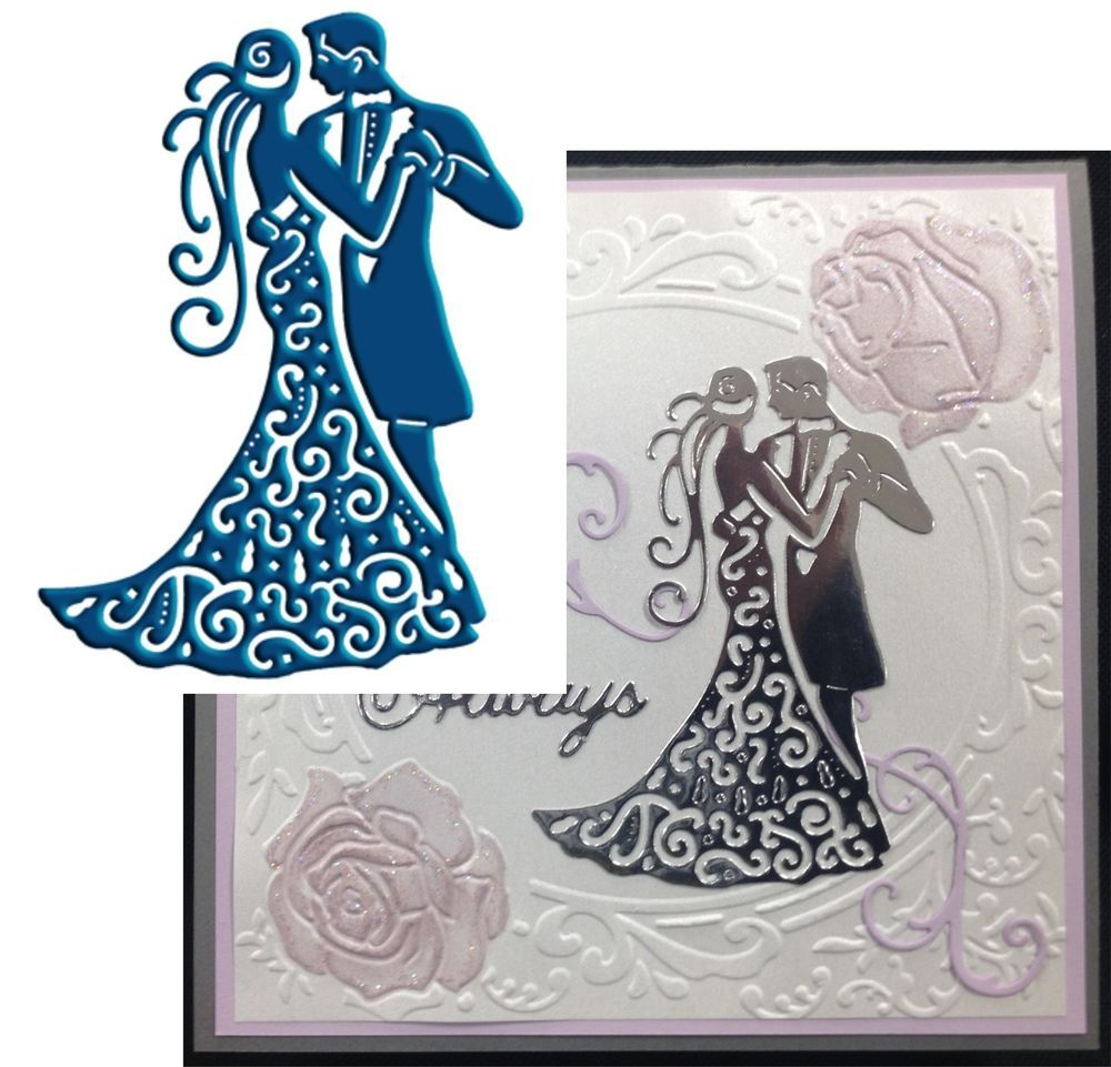 Intricate Wedding Formal Lace Dance die cut COUPLE Diecut by ...