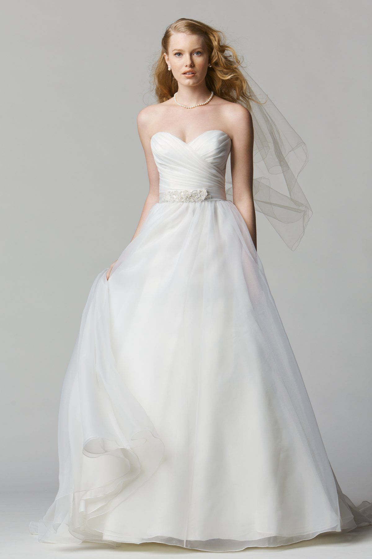 Strapless ball gown wedding dresses  Wtoo Brides Siena Gown  KuitwaardCastrowed  Pinterest  Chapel