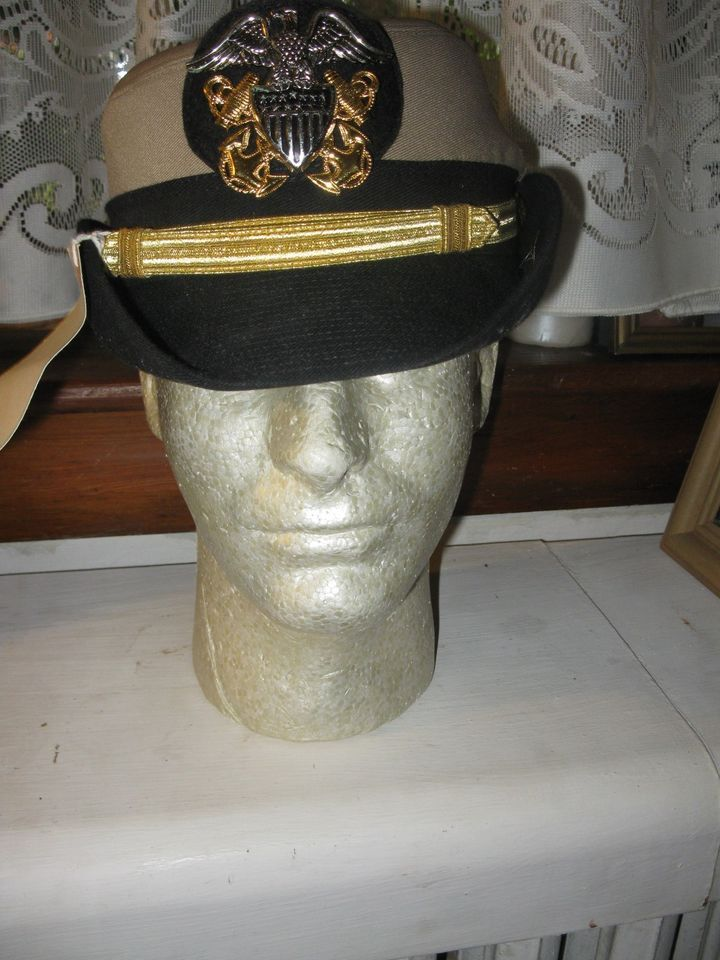 US Navy Uniform Female Woman Officer Cap Tan Size 23 Amazons Women 40a0fbcd0