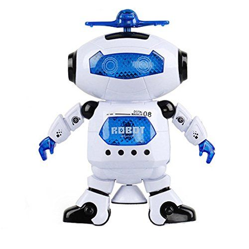 Robots ToyLAFEINA Creative Walking Dancing Electronic Robot Children Kids Toys Music Light for Christmas Gift ** Be sure to check out this awesome product.