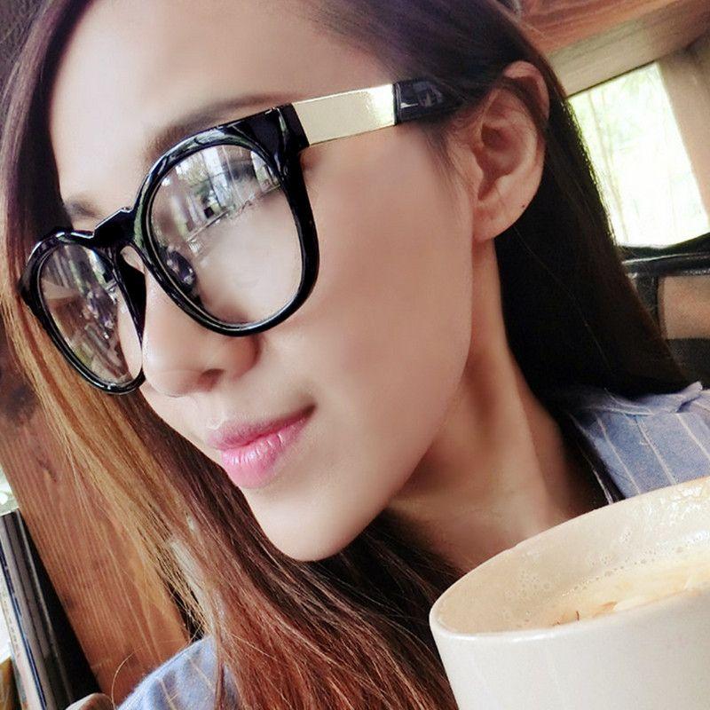Click to Buy << VWKTUUN Oculos Rectangle Glasses Frame Women Men ...