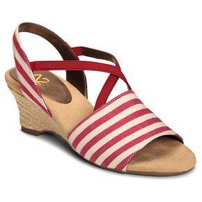 Womens Sandals Aerosoles Boyzenberry Red Stripe