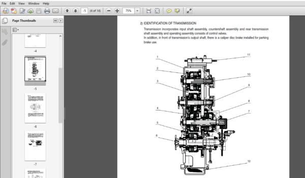 Hyundai Sl735 Wheel Loaders Service Workshop Manual Pdf Download Manual Hyundai Workshop