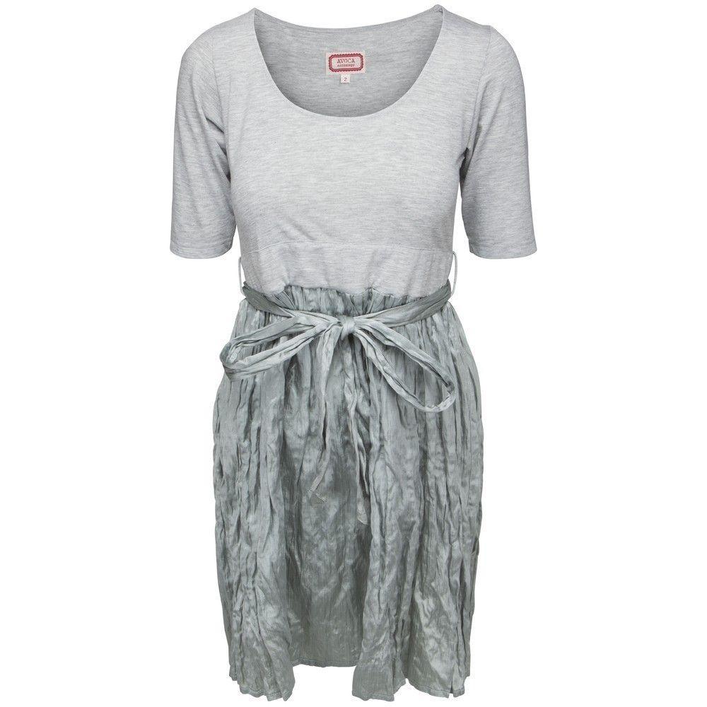 067fc6914338 Avoca - 2delt silke kjole grøn