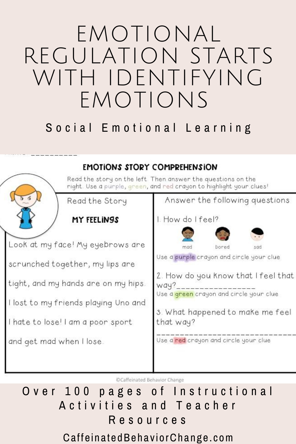 Teaching Emotional Regulation Starts With Identifying Emotions And What Those Emotions Actually Social Emotional Learning Emotional Regulation Social Emotional