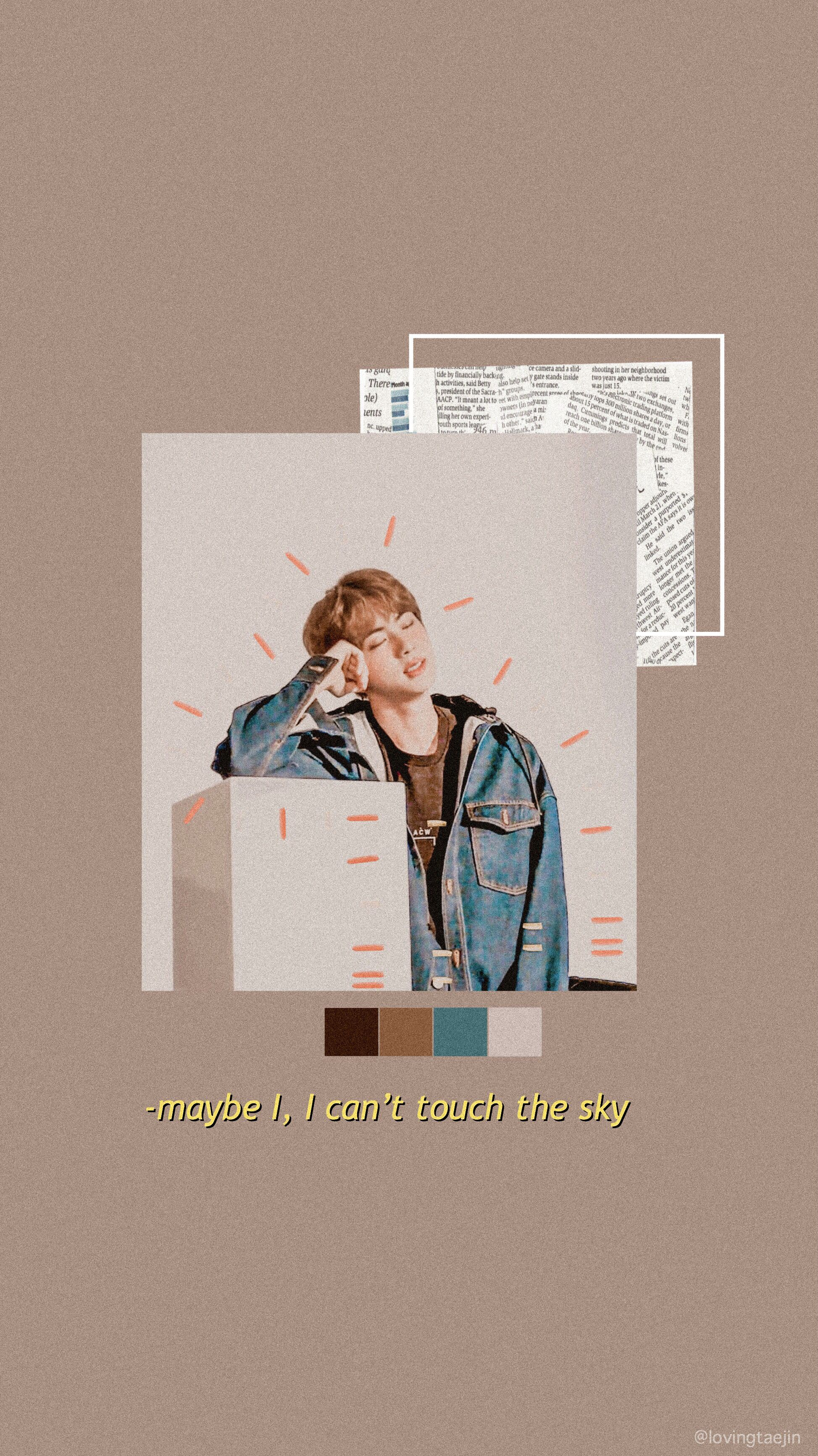 Jin Bts Lockscreen Aesthetic Wallpaper Lucu Pengeditan Foto Gambar