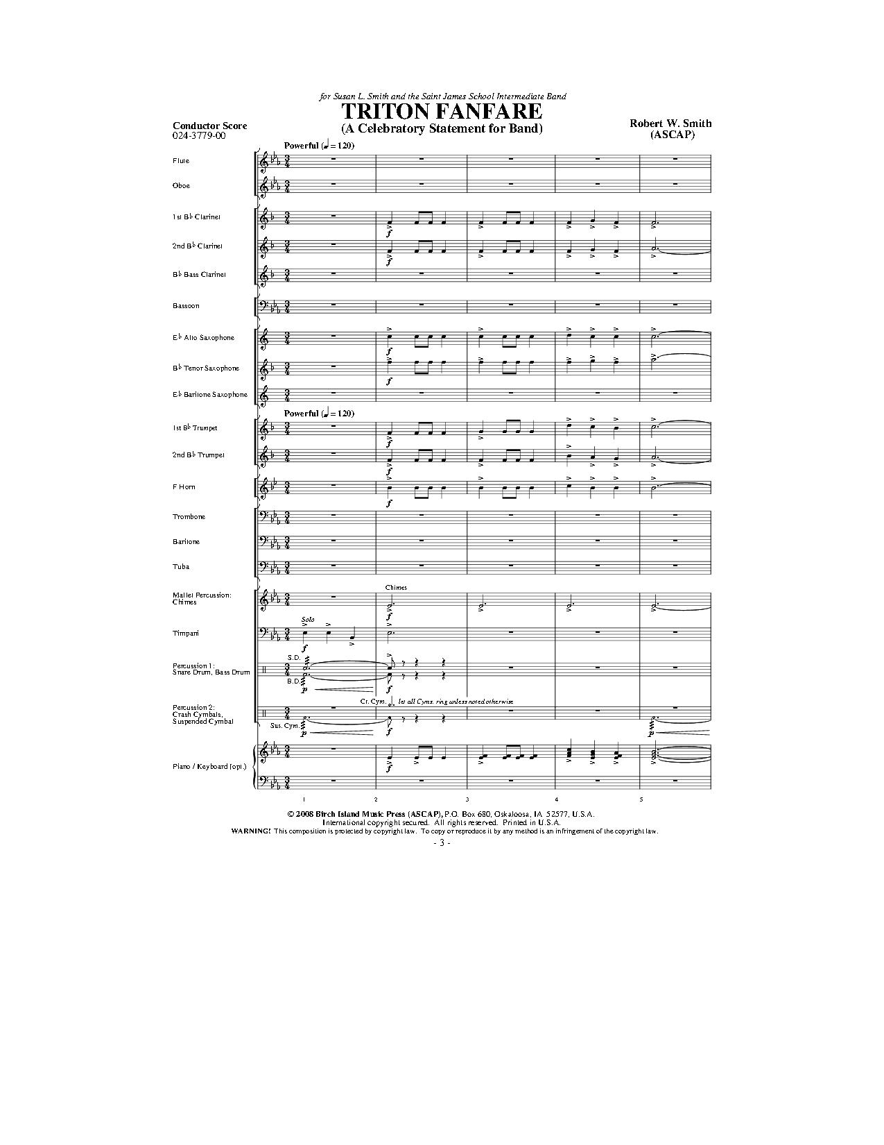 Triton Fanfare by Robert W. Smith| J.W. Pepper Sheet Music