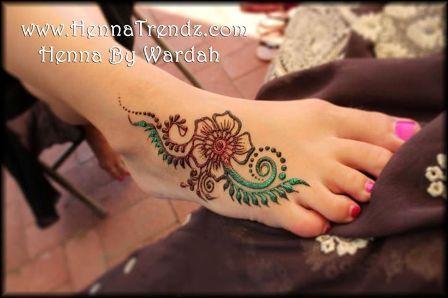 Mehndi Tattoo For Hand : Simple henna tattoo for hand & leg foot pinterest