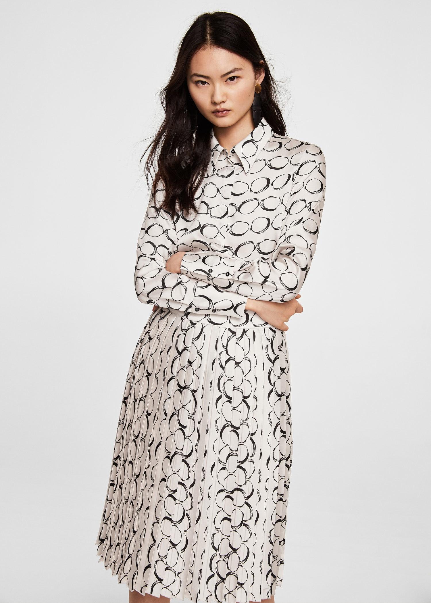 d0d7e8bcc Mango Printed Shirt Dress - 8 | Products | Shirt dress, Dresses ...