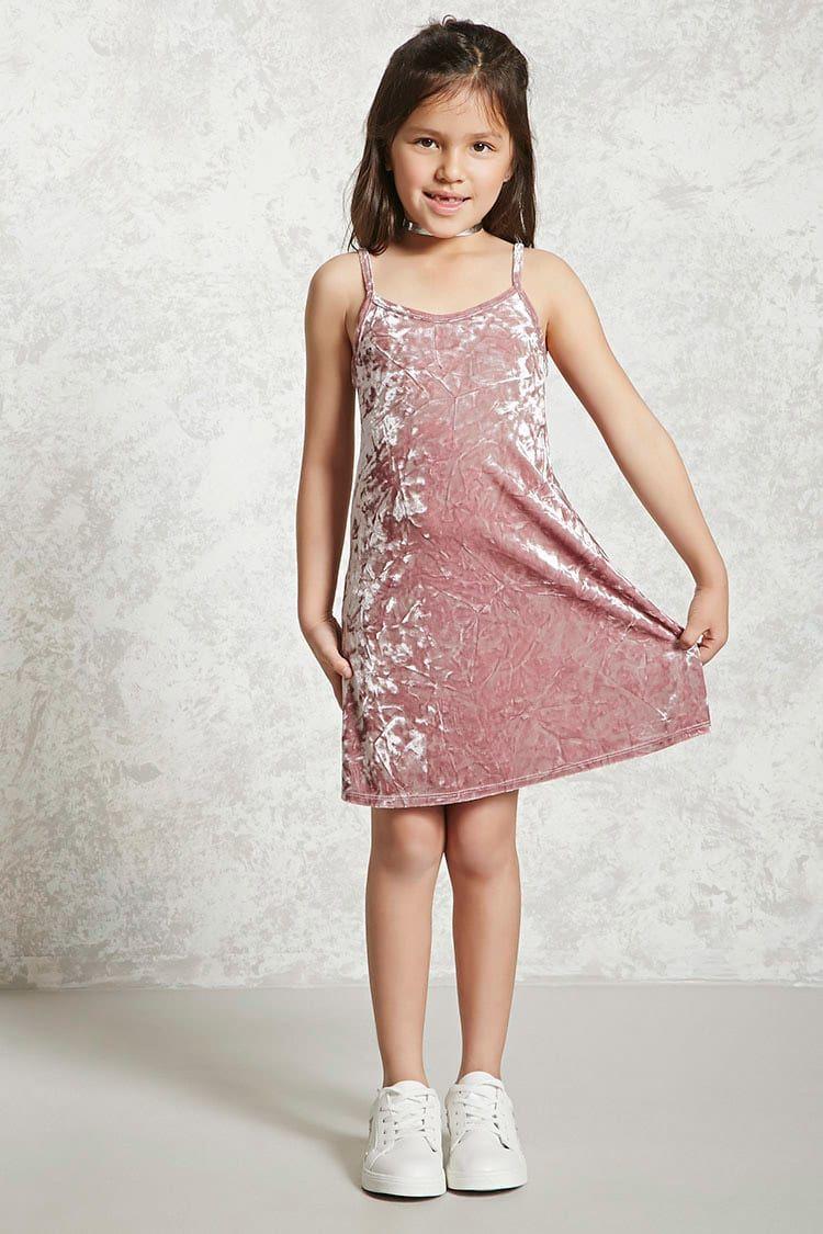 Crushed Velvet Dress (Kids) | Just for My Baby Dolls | Pinterest