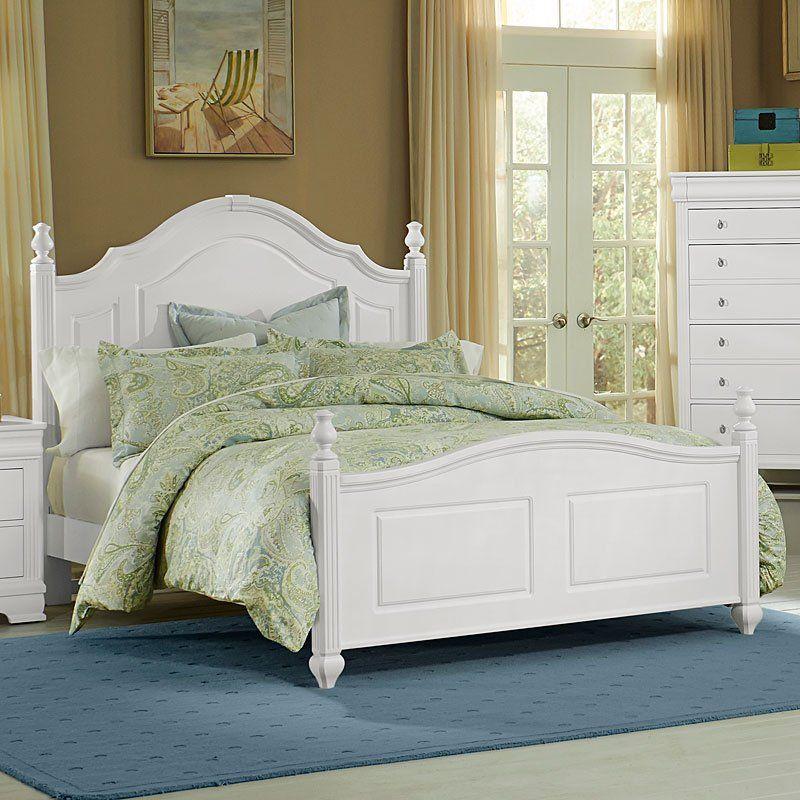 French Market Poster Bed (White) White bedding, White