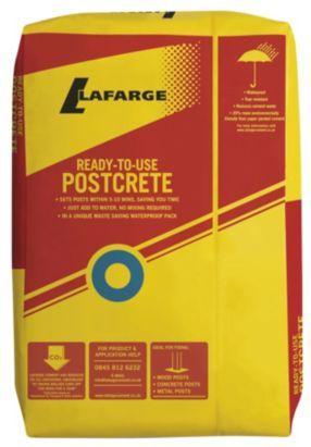 Blue Circle 20kg Postcrete 5018719100152 B Q 6 25 Cement Diy Affordable Hot Tub Concrete Cement