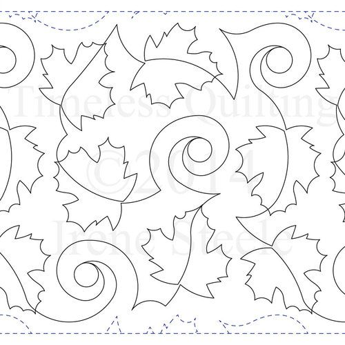 Timeless Maple Leaf Paper Version Quilting Stitch