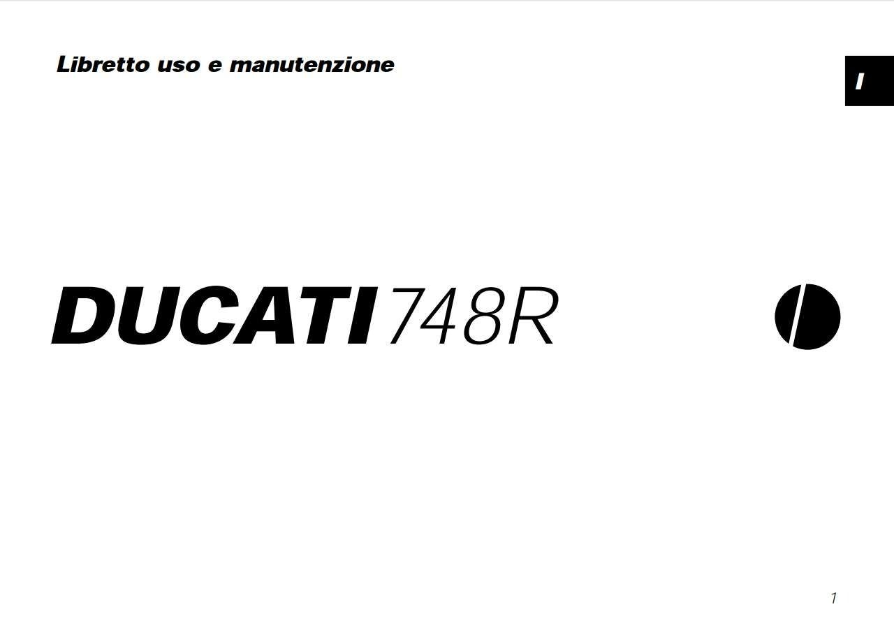 Ducati SBK748R 2001 Owner's Manual has been published on