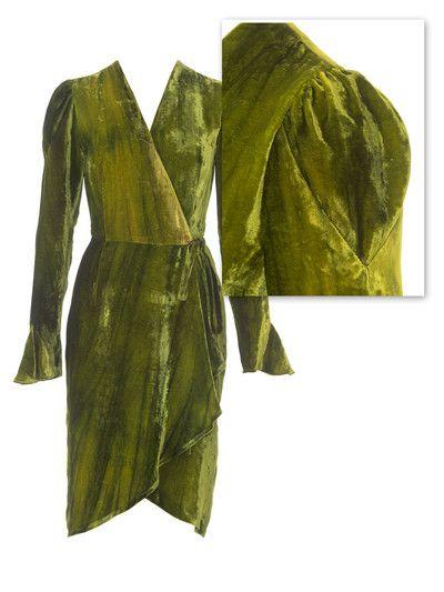 burda style, Schnittmuster - Wickelkleid aus gebatiktem ...