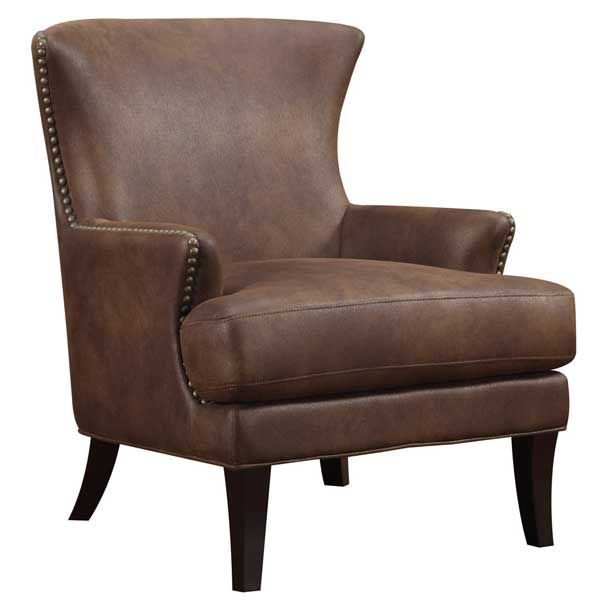 Best Nola Brown Accent Chair 1A1 3566 Leather Armchair Accent Chairs Brown Accent Chair 640 x 480