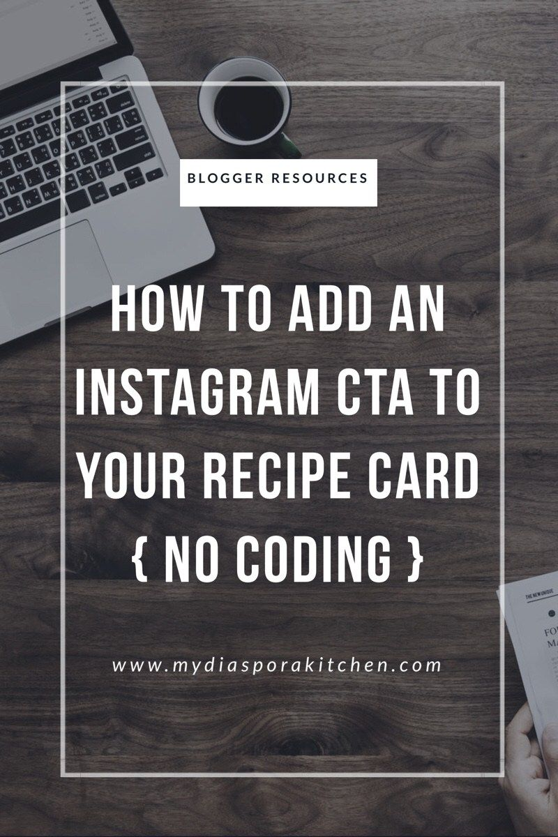 How to add instagram cta to your recipe cards recipe