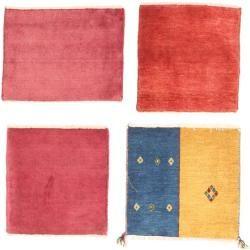 Gabbeh Persisch Paket aus 4 Teppich 40x40 Perserteppich