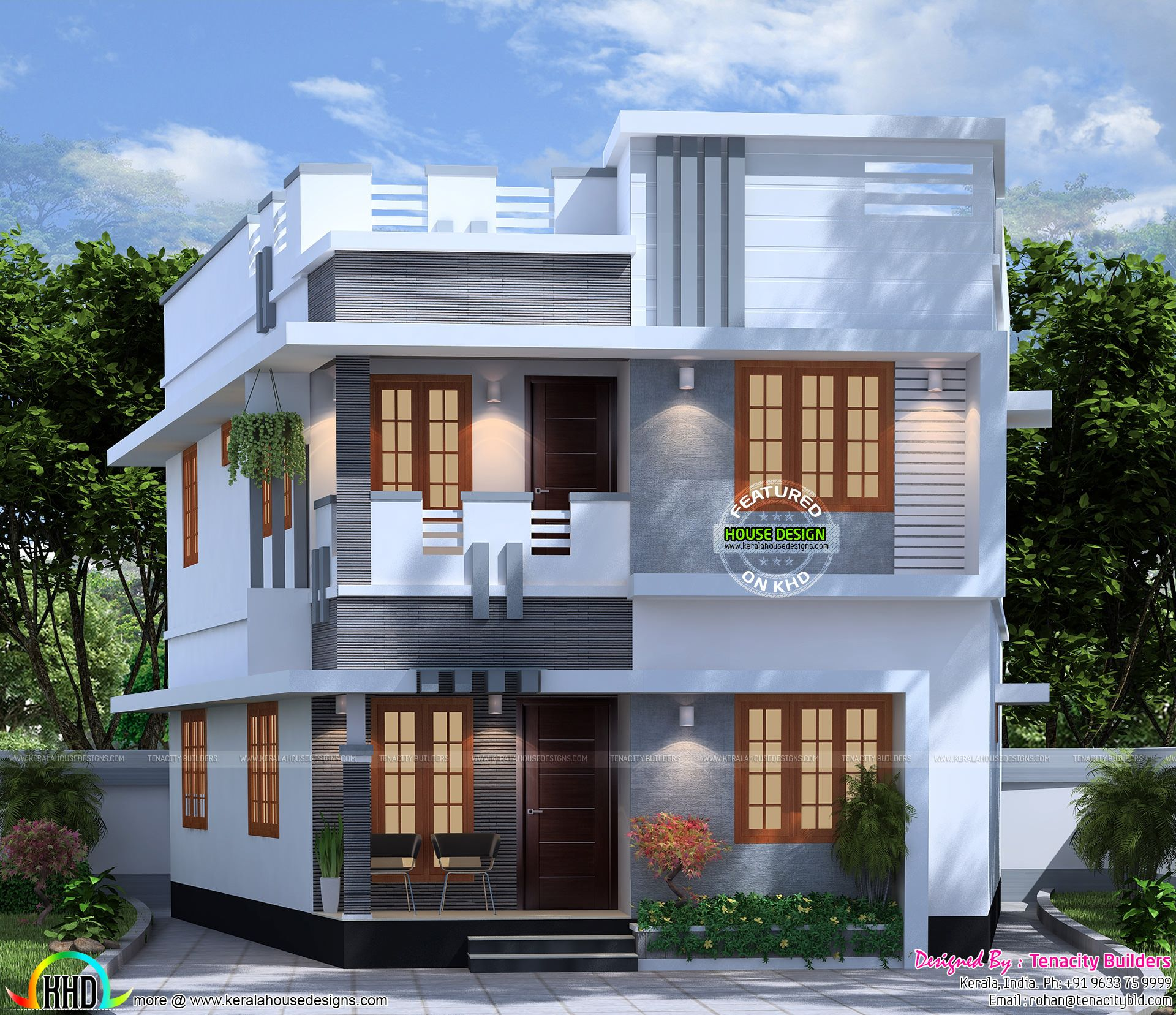 Newest House Plan 54 Modern House Plans For 1300 Sq Ft Kerala House Design Modern House Plans New House Plans